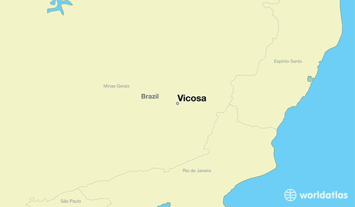 map showing the location of Vicosa