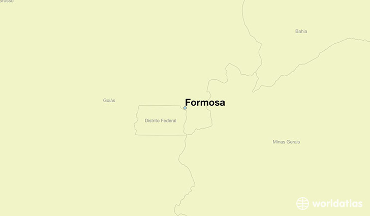 map showing the location of Formosa