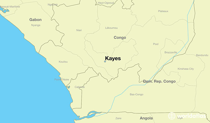 map showing the location of Kayes