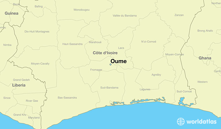 map showing the location of Oume