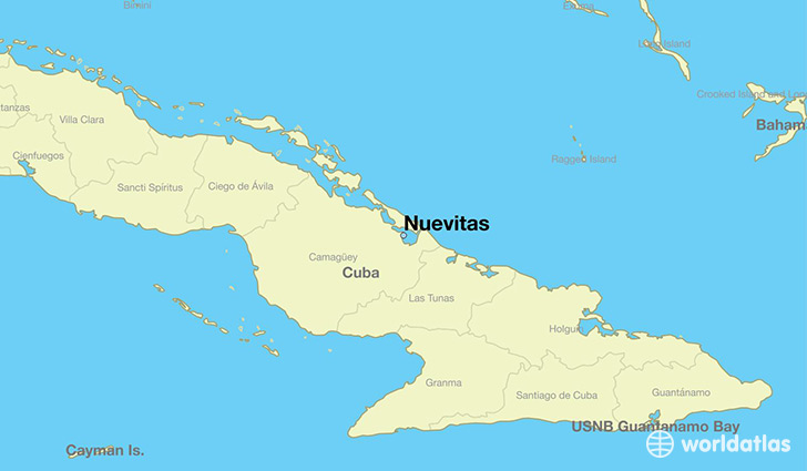 map showing the location of Nuevitas