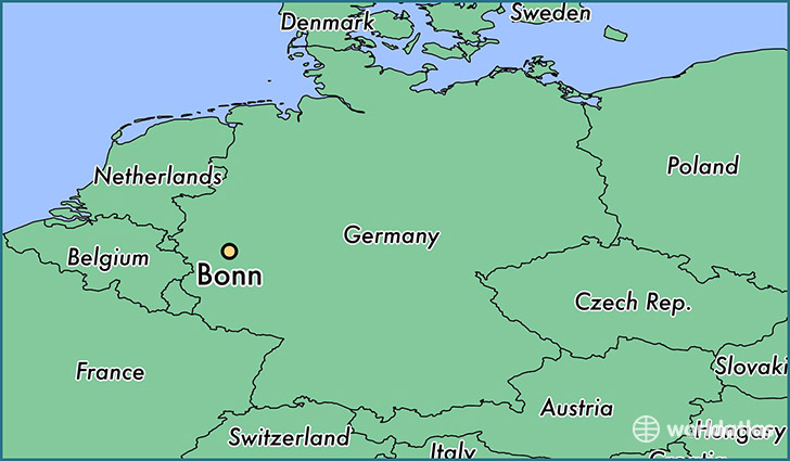 map showing the location of Bonn