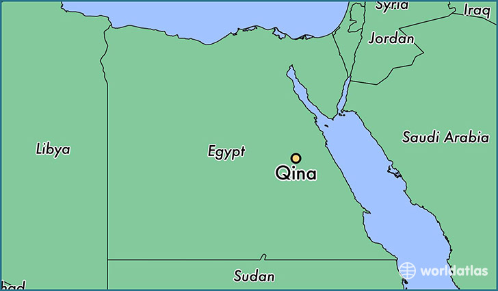 map showing the location of Qina