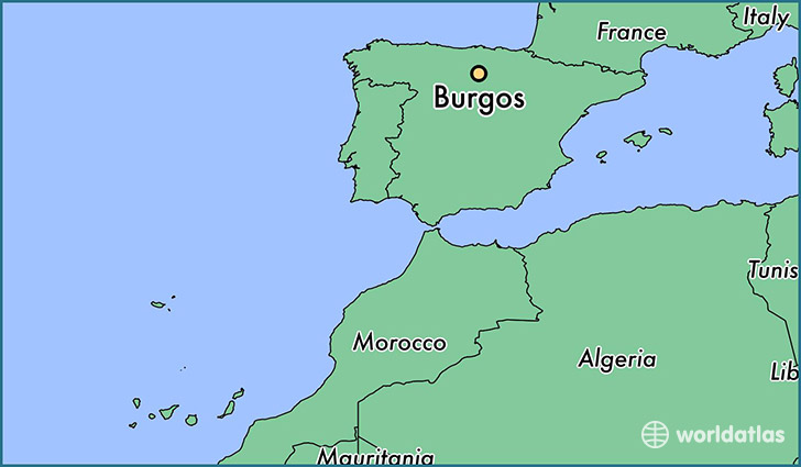 map showing the location of Burgos