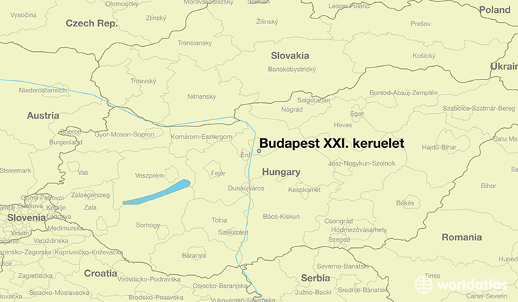 map showing the location of Budapest XXI. keruelet