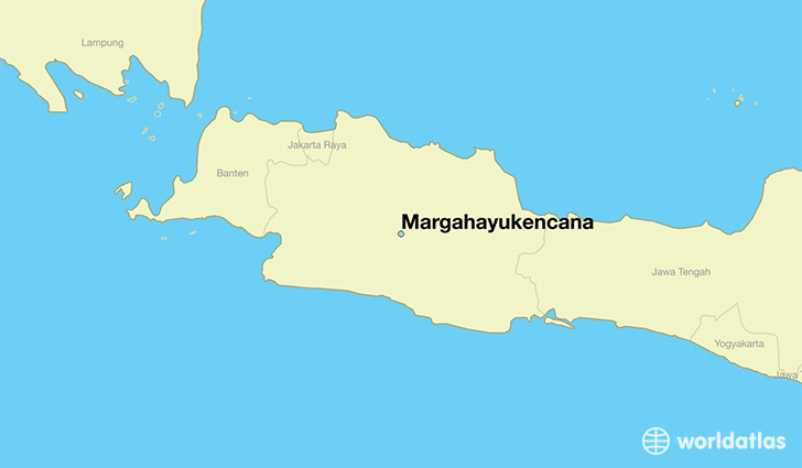 map showing the location of Margahayukencana