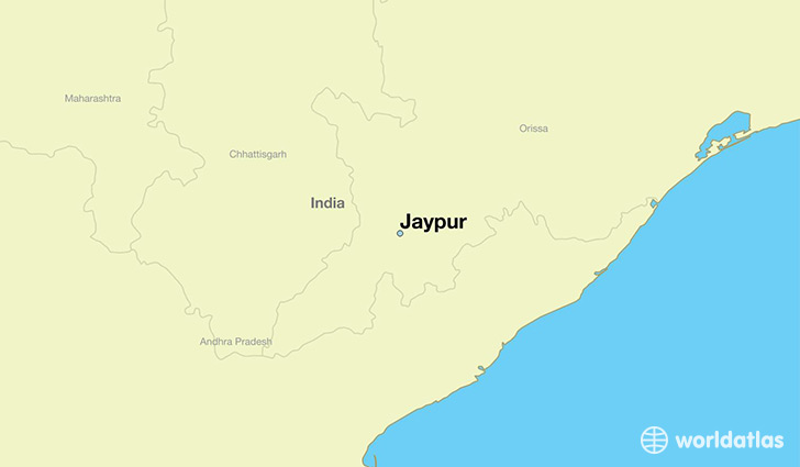 map showing the location of Jaypur