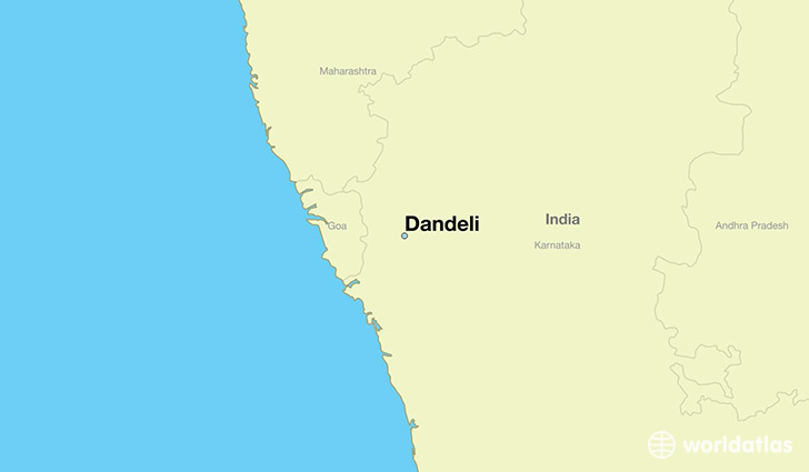 map showing the location of Dandeli
