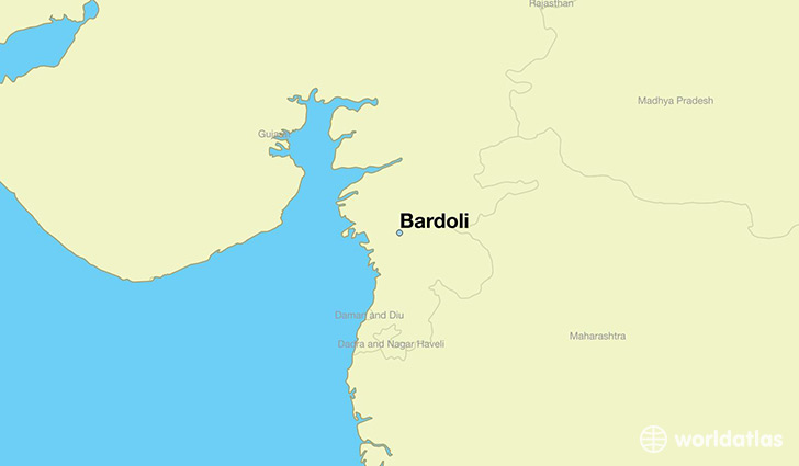 map showing the location of Bardoli