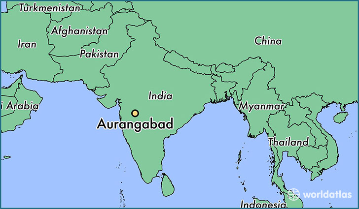 map showing the location of Aurangabad