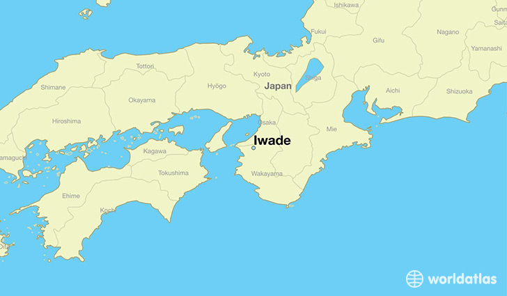 map showing the location of Iwade