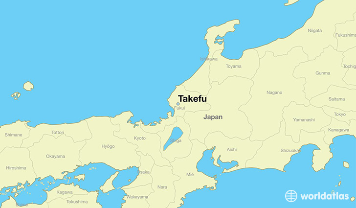 map showing the location of Takefu