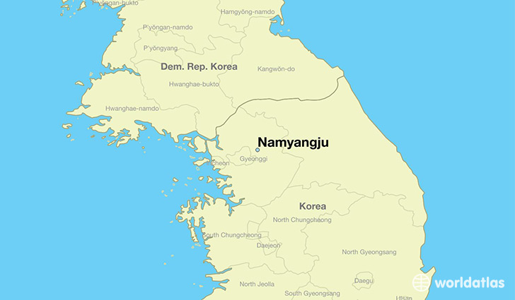 map showing the location of Namyangju