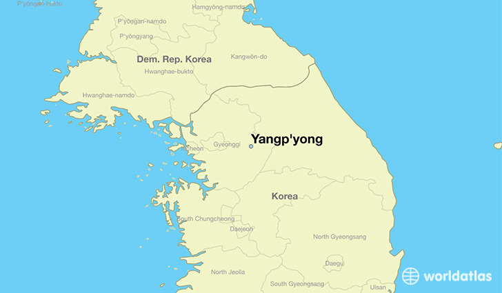 map showing the location of Yangp'yong