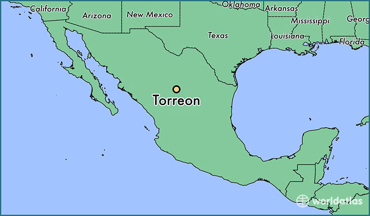 map showing the location of Torreon