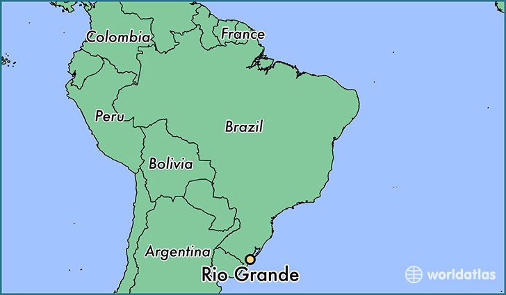 rio grande brazil map Campus Map Rio Grande On North America Map rio grande brazil map