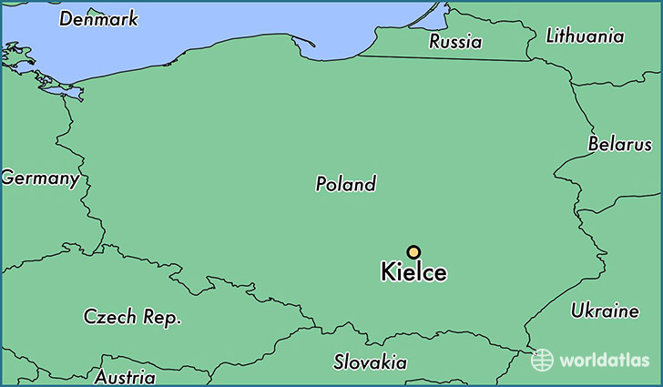 map showing the location of Kielce
