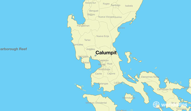 map showing the location of Calumpit