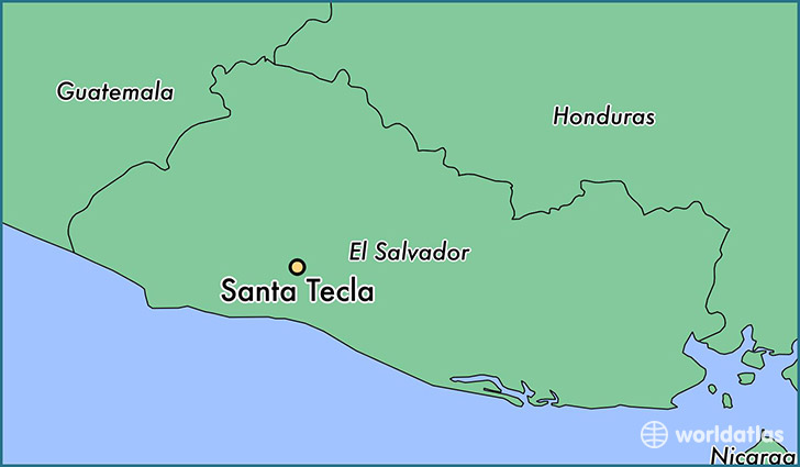 map showing the location of Santa Tecla