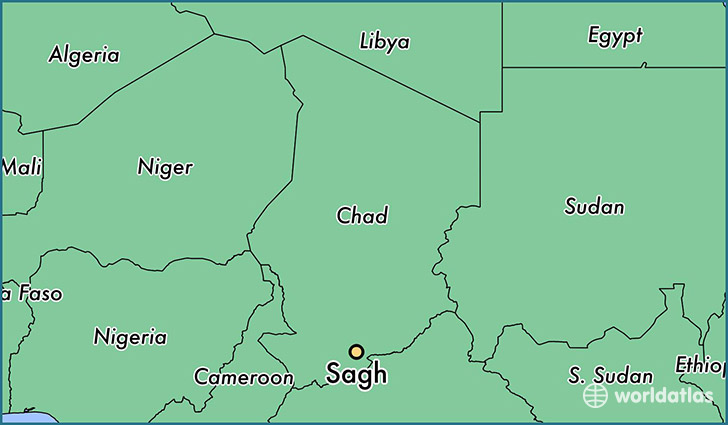 map showing the location of Sagh