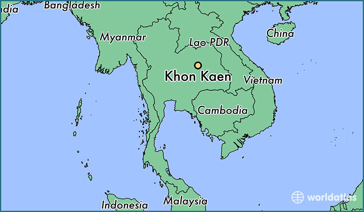 map showing the location of Khon Kaen