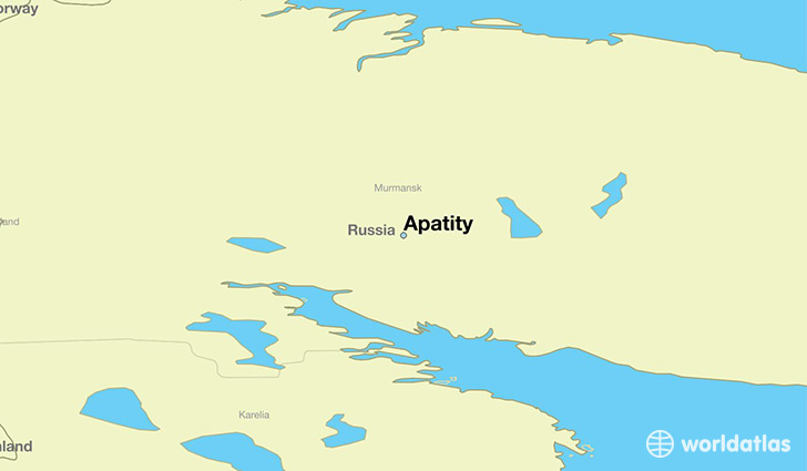 map showing the location of Apatity