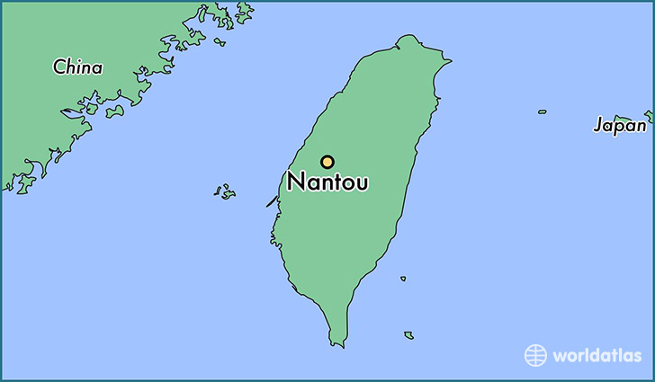 map showing the location of Nantou