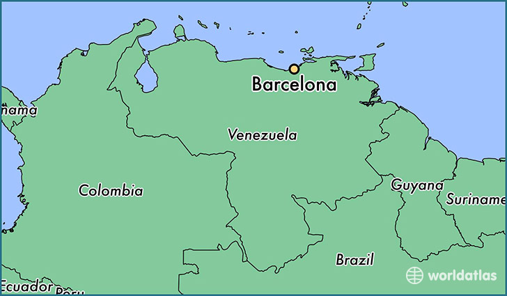 map showing the location of Barcelona