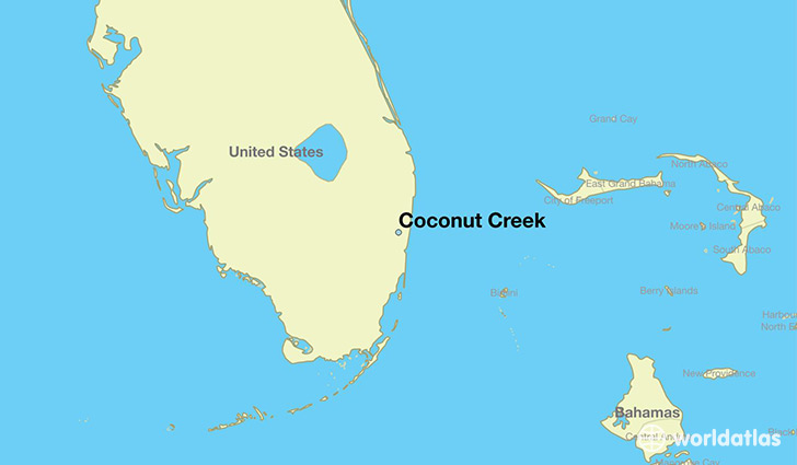 Where is Coconut Creek FL Coconut Creek Florida Map