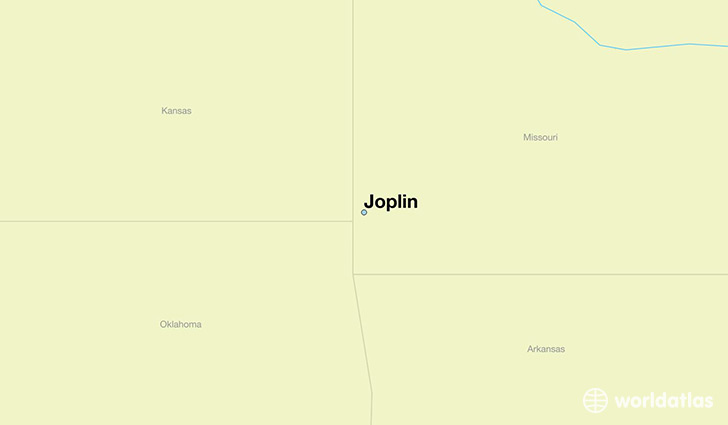 map showing the location of Joplin
