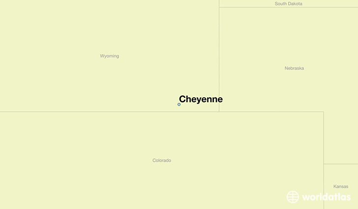 map showing the location of Cheyenne