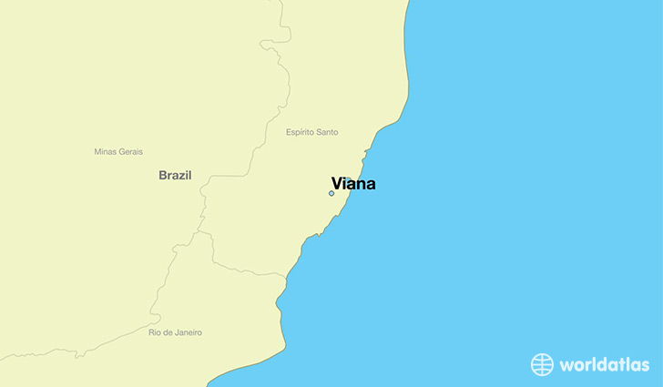 map showing the location of Viana