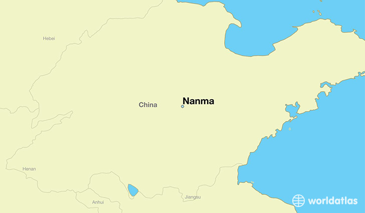 map showing the location of Nanma