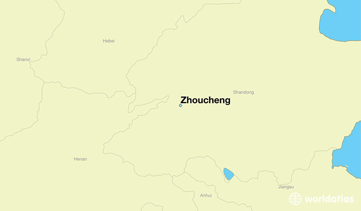 map showing the location of Zhoucheng