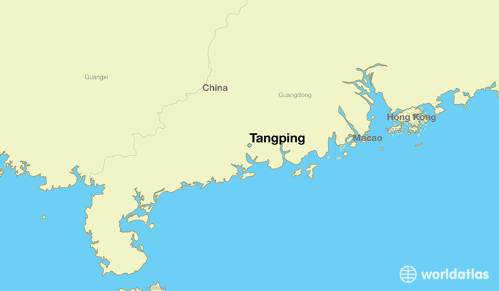 map showing the location of Tangping