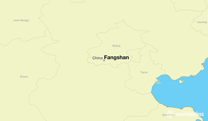 map showing the location of Fangshan