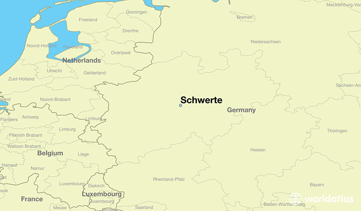 map showing the location of Schwerte