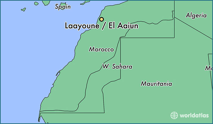 map showing the location of Laayoune / El Aaiun