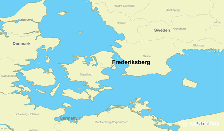 map showing the location of Frederiksberg