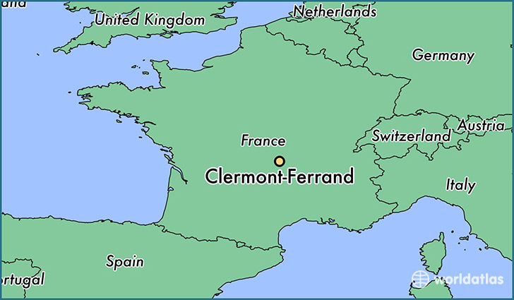 where is clermont ferrand france clermont ferrand auvergne map. Black Bedroom Furniture Sets. Home Design Ideas