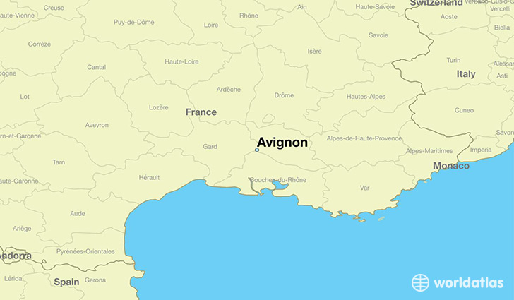 where is avignon france avignon provence alpes cote d 39 azur map. Black Bedroom Furniture Sets. Home Design Ideas