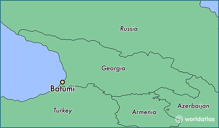 map showing the location of Batumi
