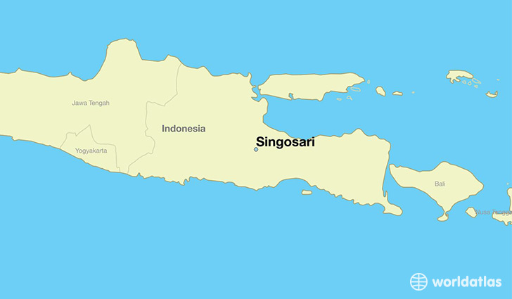 map showing the location of Singosari