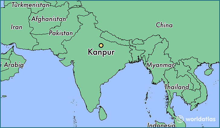 Where is Kanpur India Kanpur Uttar Pradesh Map WorldAtlascom