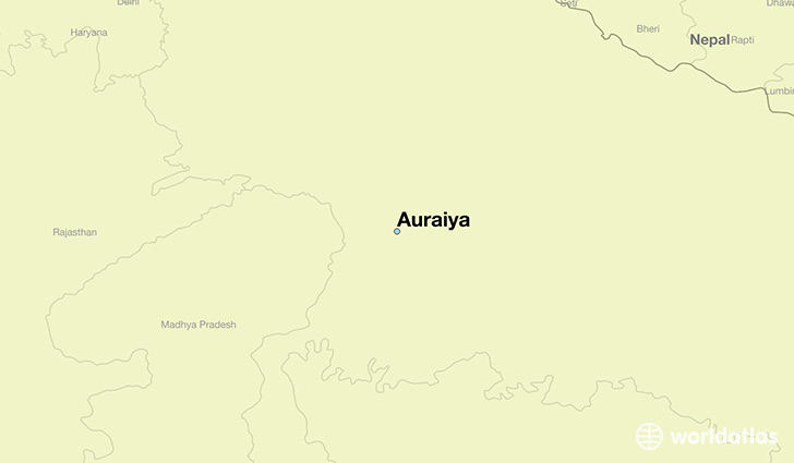 map showing the location of Auraiya