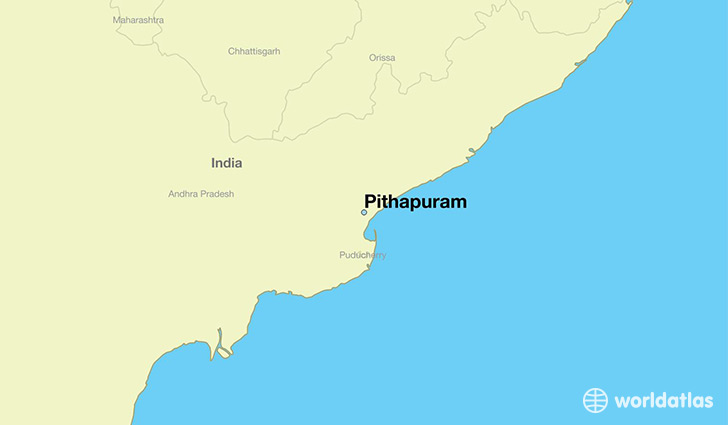 map showing the location of Pithapuram