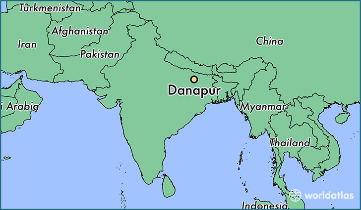 map showing the location of Danapur