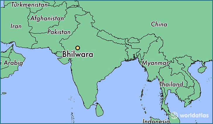 map showing the location of Bhilwara