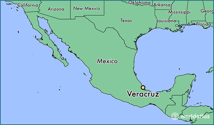 map showing the location of Veracruz