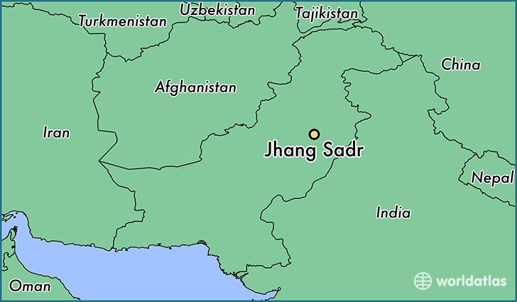 map showing the location of Jhang Sadr